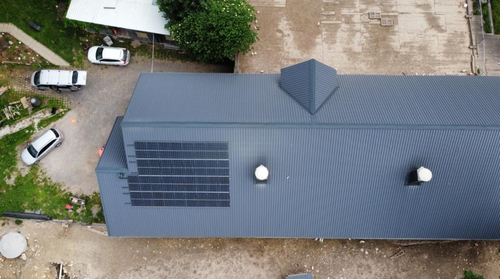 top view PV installation